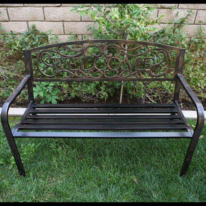 Fabulous Lynd Iron Garden Bench Bralicious Painted Fabric Chair Ideas Braliciousco