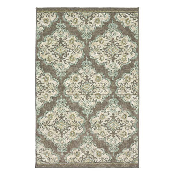 Hanley Gray/Blue Area Rug by Charlton Home