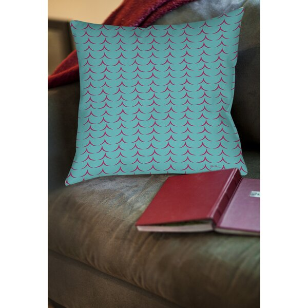 Banias Teepee Printed Throw Pillow by Manual Woodworkers & Weavers