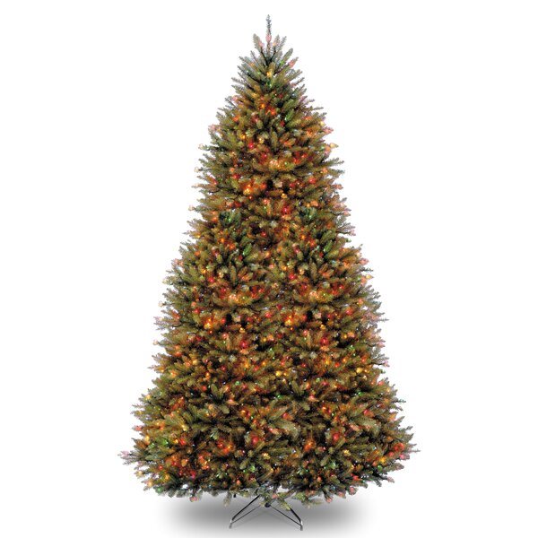 Fir  Hinged Green Artificial Christmas Tree with 1200 LED White/Multicolor Lights by Three Posts