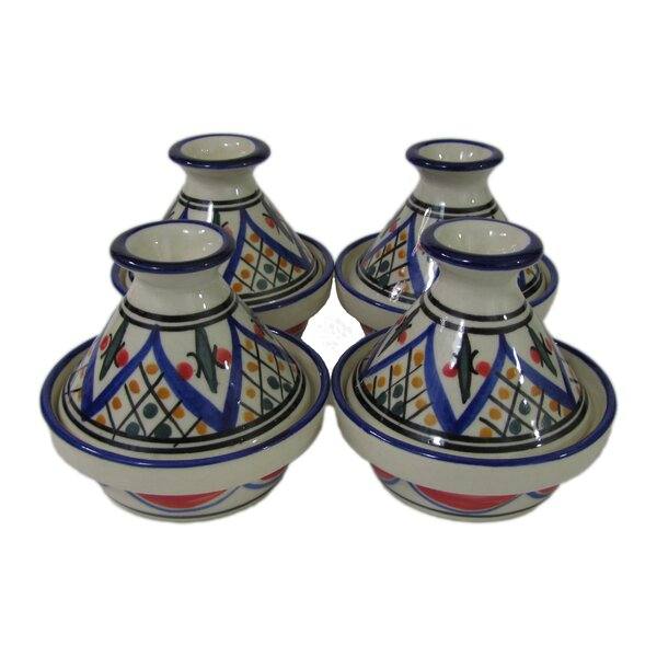 Tabarka 0.035 Qt. Stoneware Round Tagine (Set of 4) by Le Souk Ceramique