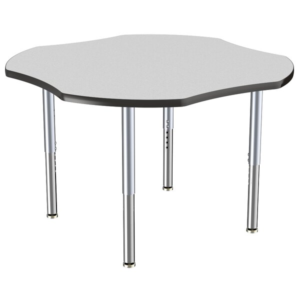 Clover Contour Adjustable Thermo-Fused 48 x 48 Novelty Activity Table by ECR4kids