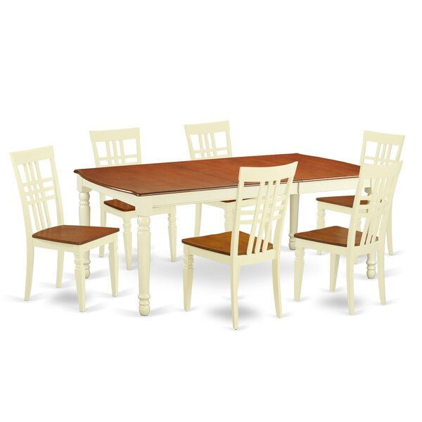 Parkridge 7 Piece Extendable Solid Wood Dining Set by August Grove