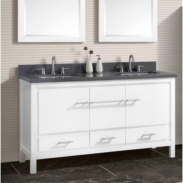 Liverman 61 Double Bathroom Vanity Set by Latitude Run