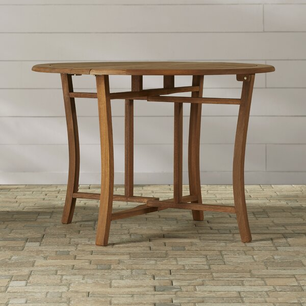 Roseland Folding Wooden Dining Table by Beachcrest Home