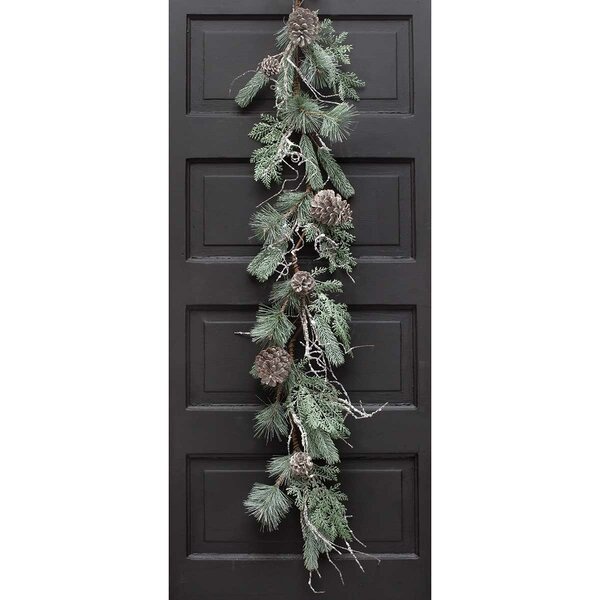 Glacier Iced Pine Garland by The Holiday Aisle