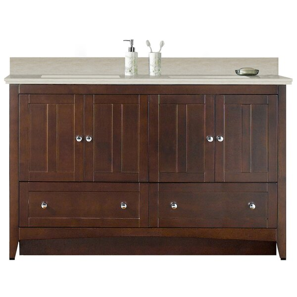 Artic Modern 59 Plywood-veneer Single Bathroom Vanity Set by Longshore Tides