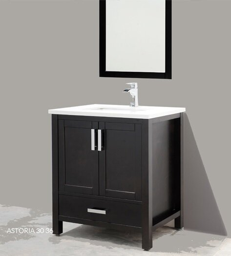 Astoria 36 Single Bathroom Vanity Set with Mirror by Adornus