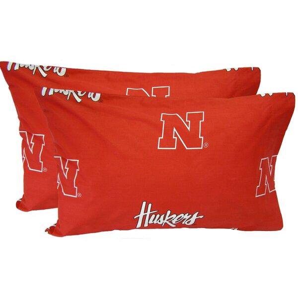 NCAA Nebraska Cornhuskers Pillowcase (Set of 2) by College Covers