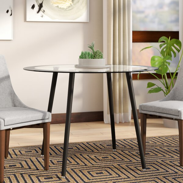 Bider Glass Dining Table by Orren Ellis