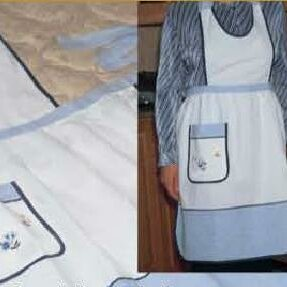 Elegant Embroidered Apron by August Grove