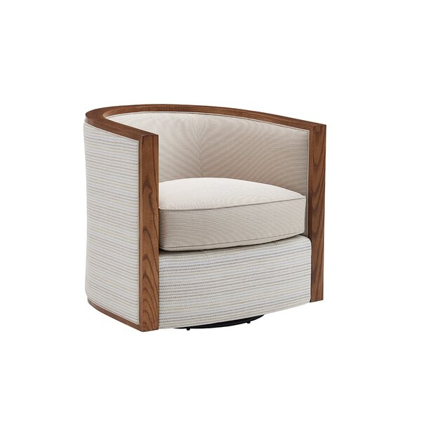 Kitano Swivel Barrel Chair By Lexington