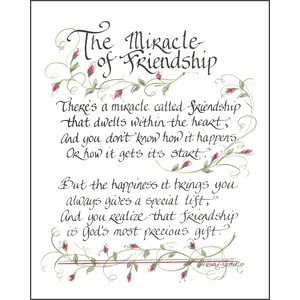 Life Lines The Miracle of Friendship II by Lori Voskuil-Dutter Textual Art Plaque by LPG Greetings