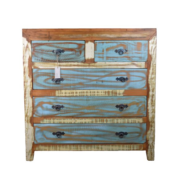 Luke 5 Drawer Double Dresser by Rosecliff Heights