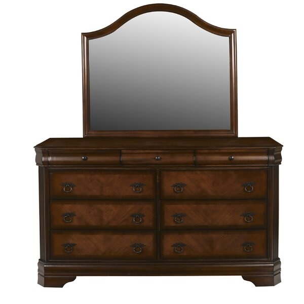 Bracamonte 9 Drawer Dresser with Mirror by Charlton Home