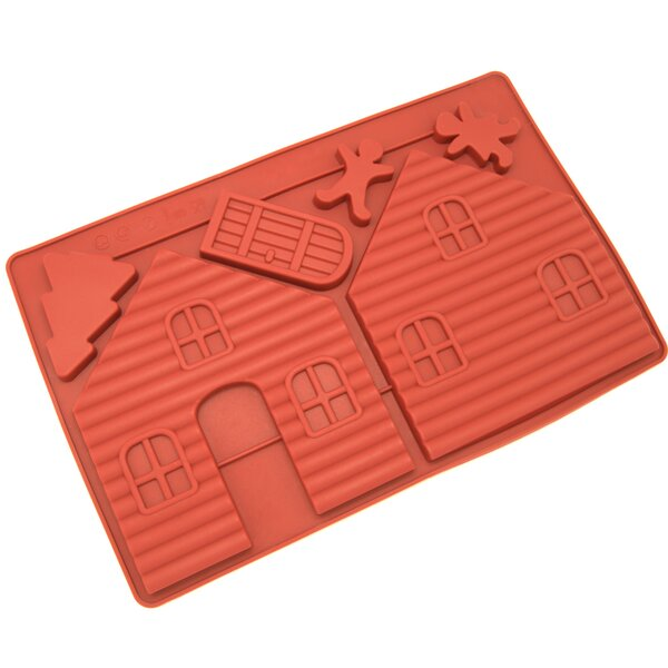 Gingerbread and Chocolate House Silicone Mold Pan (Set of 2) by Freshware