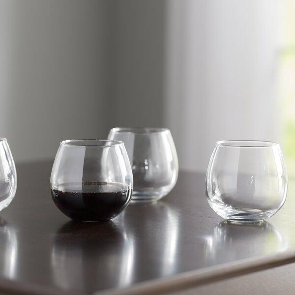 Wayfair Basics 16 oz. Stemless Red Wine Glass Set (Set of 4) by Wayfair Basics™