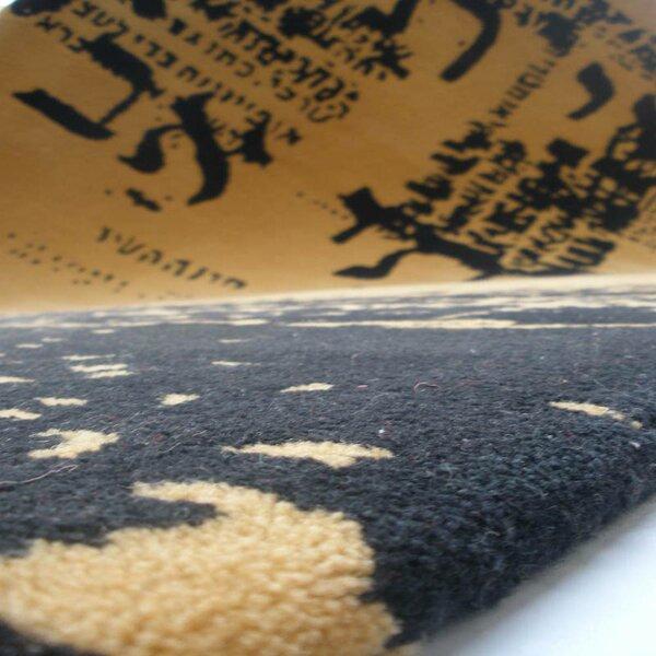 Prayer Hand-Tufted Wool Yellow Area Rug