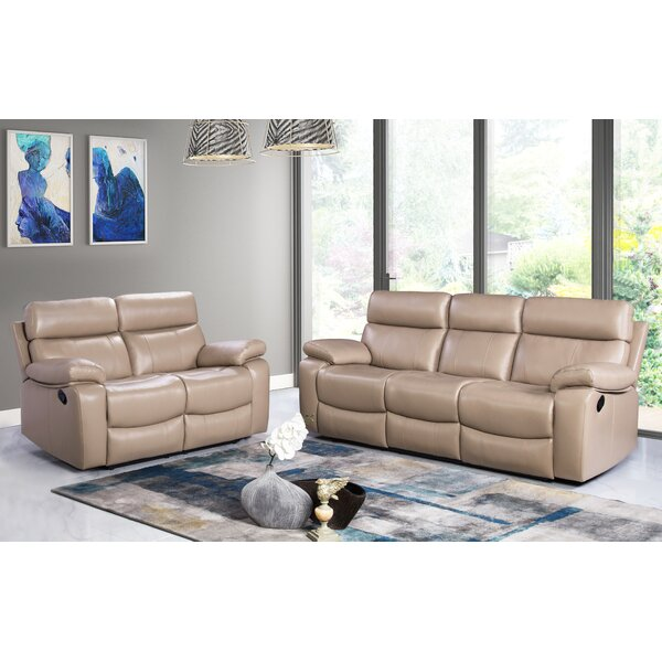 Mellor 2 Piece Leather Living Room Set by Red Barrel Studio