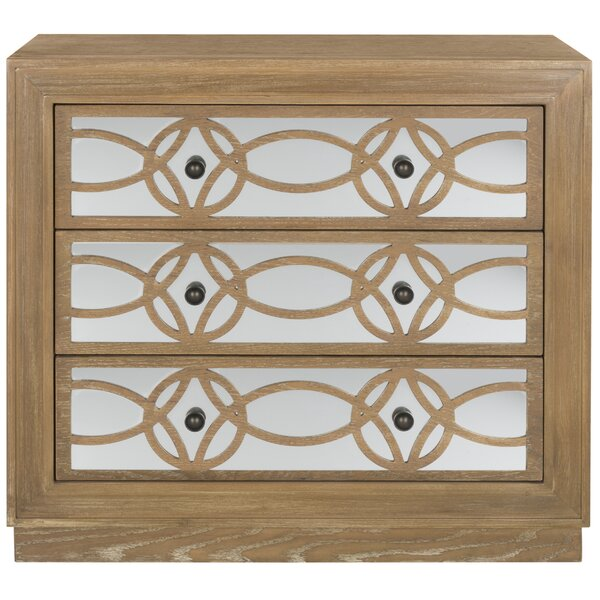 Glacaeu 3 Drawer Mirrored Accent Chest By Rosdorf Park