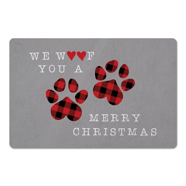 Duane We Woof You a Merry Christmas Kitchen Mat