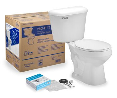 Pro-Fit 1 1.6 GPF Round Two-Piece Toilet by Mansfield Plumbing Products