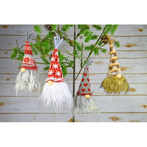 4 Piece Nils Nelby Jorry Frodi Fabric Gnome Hanging Set by The Holiday Aisle