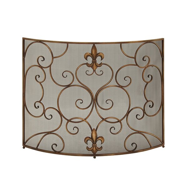 Single Panel Metal Fireplace Screen by Cole & Grey