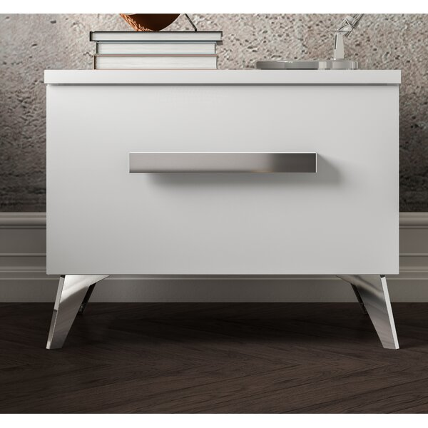 Etelvina 1 Drawer Night Stand by Wrought Studio