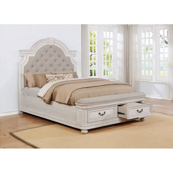 Alisa Upholstered Storage Standard Panel Bed by One Allium Way