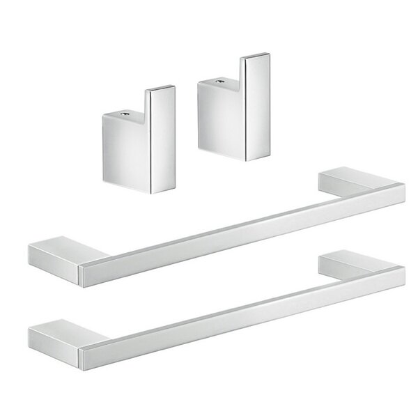 Lanzarote 4 Piece Bathroom Hardware Set by Gedy by Nameeks