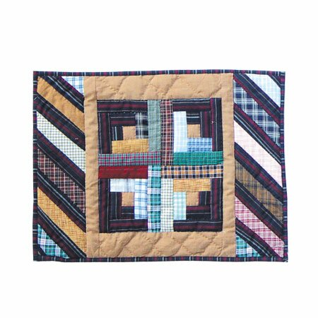 Dusty Diamond Log Cabin Placemat (Set of 4) by Patch Magic