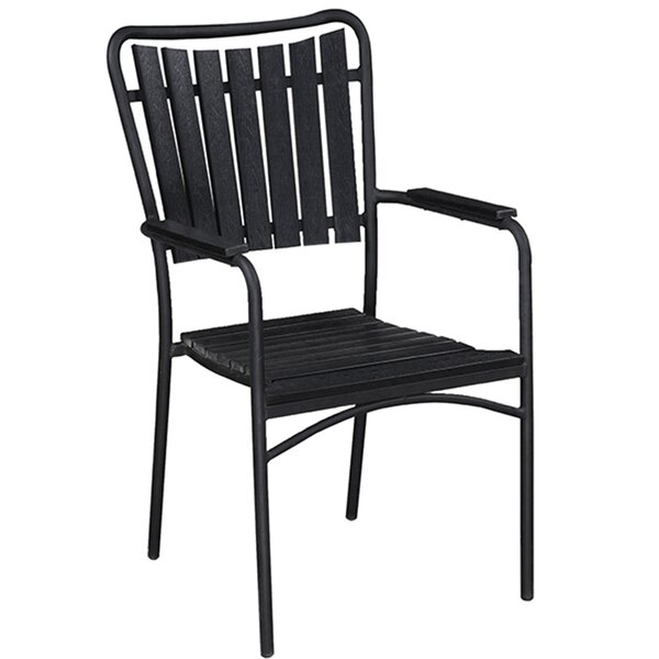 Goldenrod Southern Country Stacking Patio Dining Chair by Highland Dunes