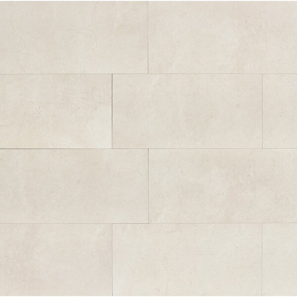 El Dorado 12 x 24 Porcelain Field Tile in Shell Polished by Grayson Martin