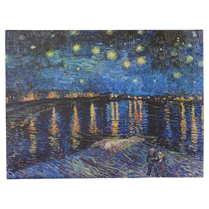 'Starry Night Over The Rhone' by Vincent Van Gogh Painting Print on Wrapped Canvas by Alcott Hill