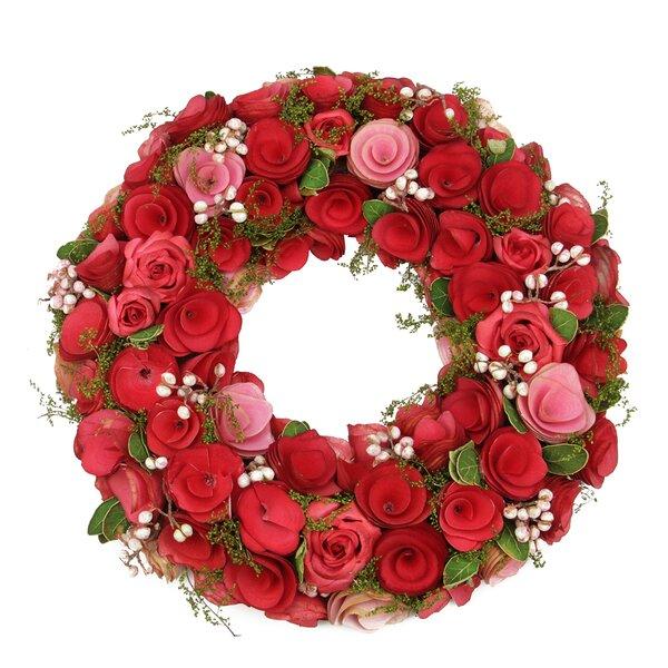 Flowers, Leaves and Berries 12.5 Floral Wreath by Northlight Seasonal