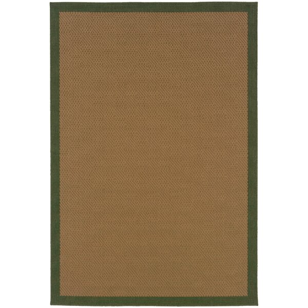 Goldenrod Brown Indoor/Outdoor Area Rug by Bay Isle Home