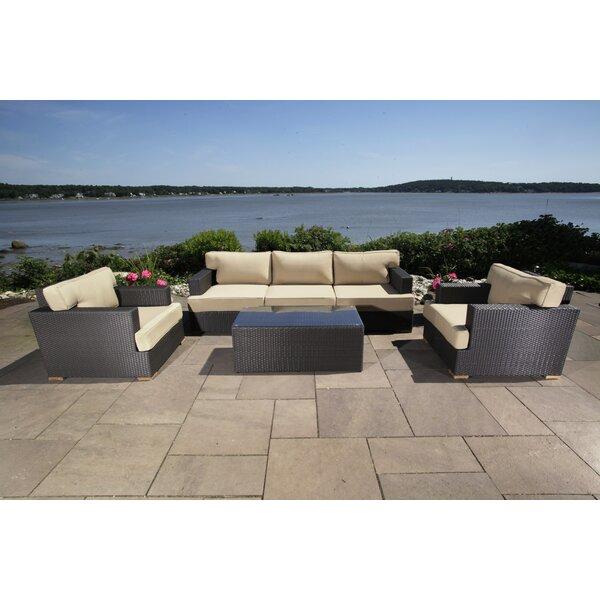 Salina 6 Piece Rattan Sofa Seating Group with Cushion Madbury Road MDBR1143