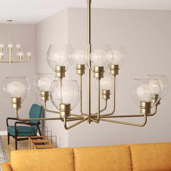 Maria 10-Light Shaded Chandelier by Langley Street
