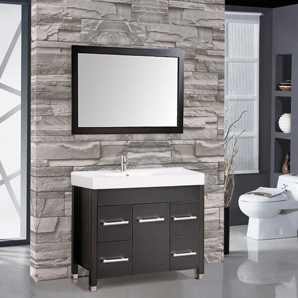 Prager 48 Single Sink Bathroom Vanity Set with Mirror by Orren Ellis
