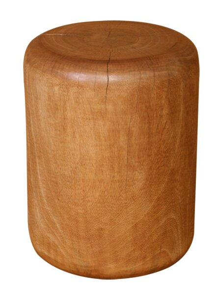 Natural Wood Plug Stool by Asian Art Imports