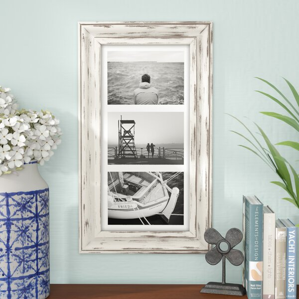 Souhail Rustic Wash Picture Frame by Beachcrest Home