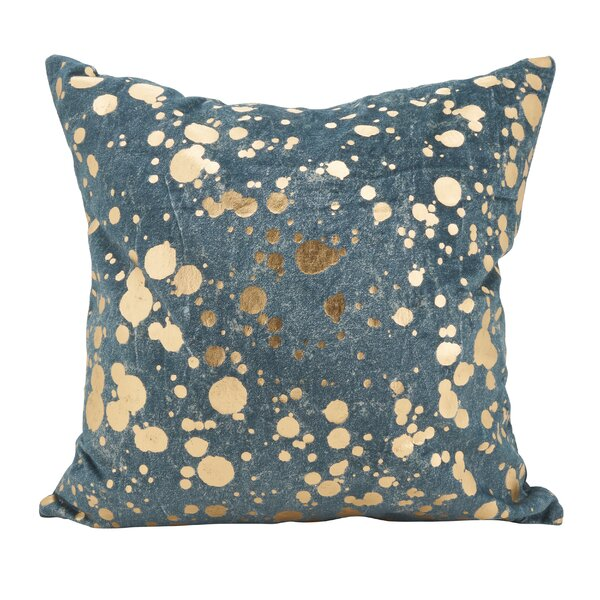 Owsley Foil Spattered Down Filled Throw Pillow by Wrought Studio
