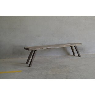 Agnon Live Edge Wood Bench