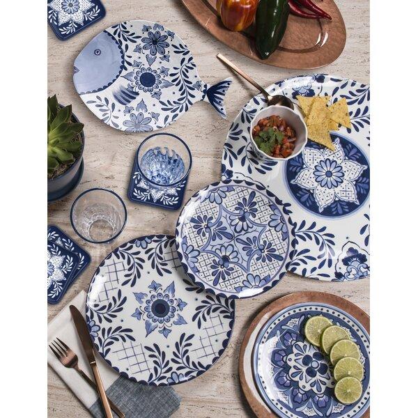 Eldert 16 Piece Melamine Dinnerware Set, Service for 4 by Bloomsbury Market