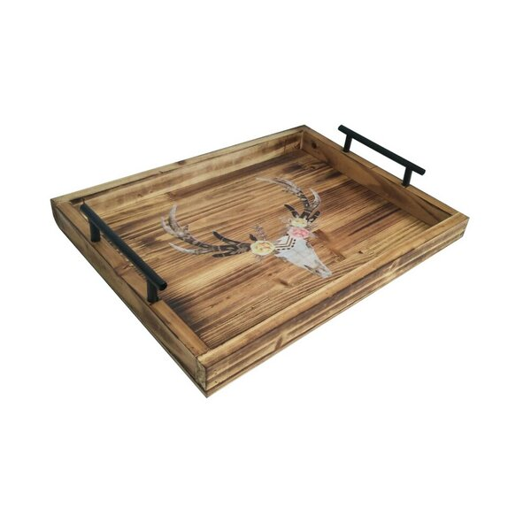 Desert Skull Coffee Table Tray by East Urban Home