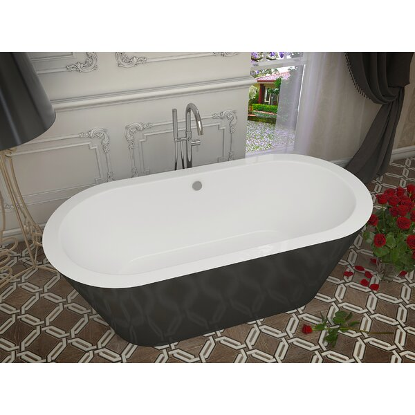Dualita 70 x 31.25 Freestanding Soaking Bathtub by ANZZI