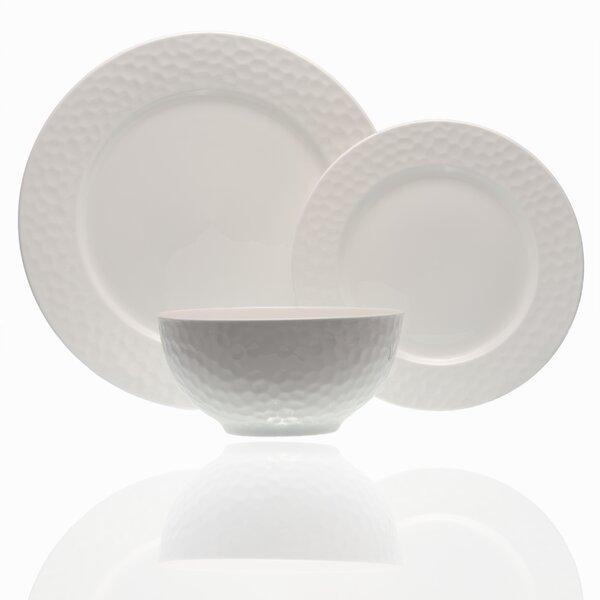 Pebble Beach 18 Piece Bone China Dinnerware Set, Service for 6 by Red Vanilla