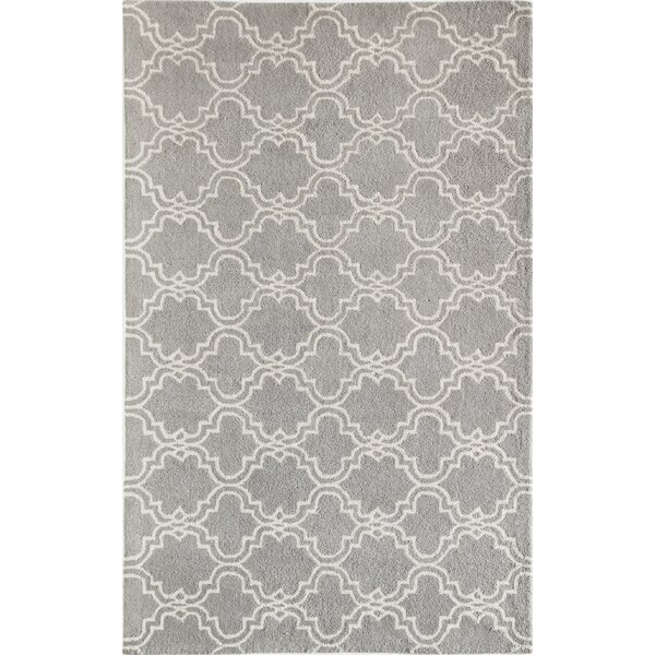 Blondelle Geometric Hand-Tufted Wool Slate Area Rug by Darby Home Co