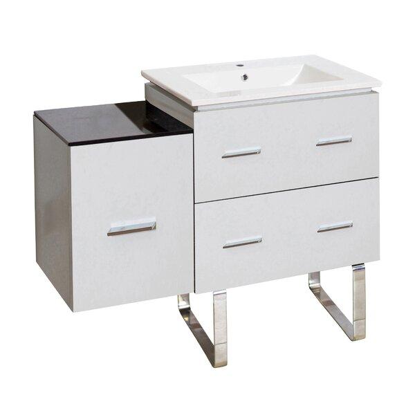 Kyra Modern 38 Rectangle Single Bathroom Vanity by Orren Ellis